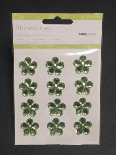 12x Kaisercraft Flowers Rhinestones Bling Self Adhesive Scrapbooking Card Making