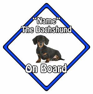 Personalised-Dog-On-Board-Car-Safety-Sign-Dachshund-On-Board-Blue
