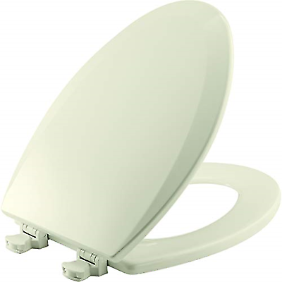 Admirable Bemis 1500Ec346 Molded Wood Elongated Toilet Seat With Easy Clean And Change Hinge Biscuit Linen Pabps2019 Chair Design Images Pabps2019Com