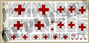 Diorama-Red-Cross-Flag-1-72-1-48-1-32-1-35-Scales-w-Motion-Ripples