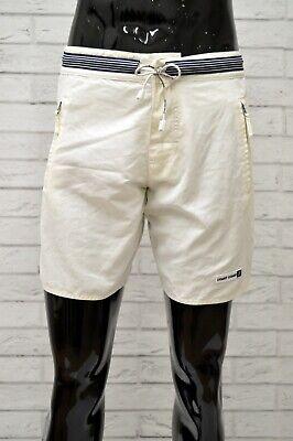 Di Carattere Dolce Costume Coast Coast Uomo Taglia S Mare Piscina Bagno Shorts Pantaloncino Bianco