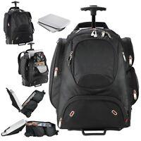 Elleven Wheeled Security-friendly 17 Compu-backpack, Black 17 Laptop Bag -