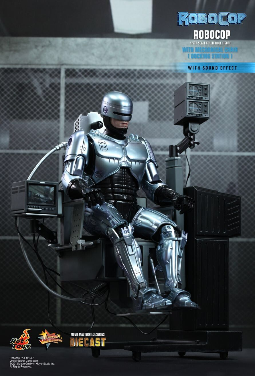 Hot Toys Robocop With Mechanical Chair 1 6 Scale Movie Masterpiece