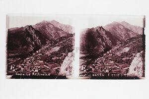 Corsica La Restonica Placca Lente Stereo Positivo 6x13cm Vintage