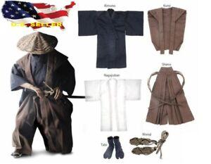 1-6-japanische-Samurai-kamishimo-Kostueme-Ronin-Gewaendern-Anzug-fuer-Hot-Toys-USA