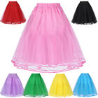 Women Retro Vintage Dress 3 Layers Tulle Netting Crinoline Petticoat Underskirt