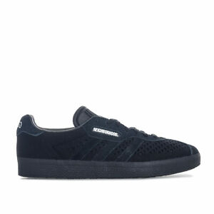Hommes-Adidas-Originals-Neighborhood-Gazelle-Super-Baskets-en-Noir-respirant