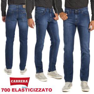Dettagli su Pantaloni Jeans uomo CARRERA art. 700 elasticizzato regular taglio dritto casual