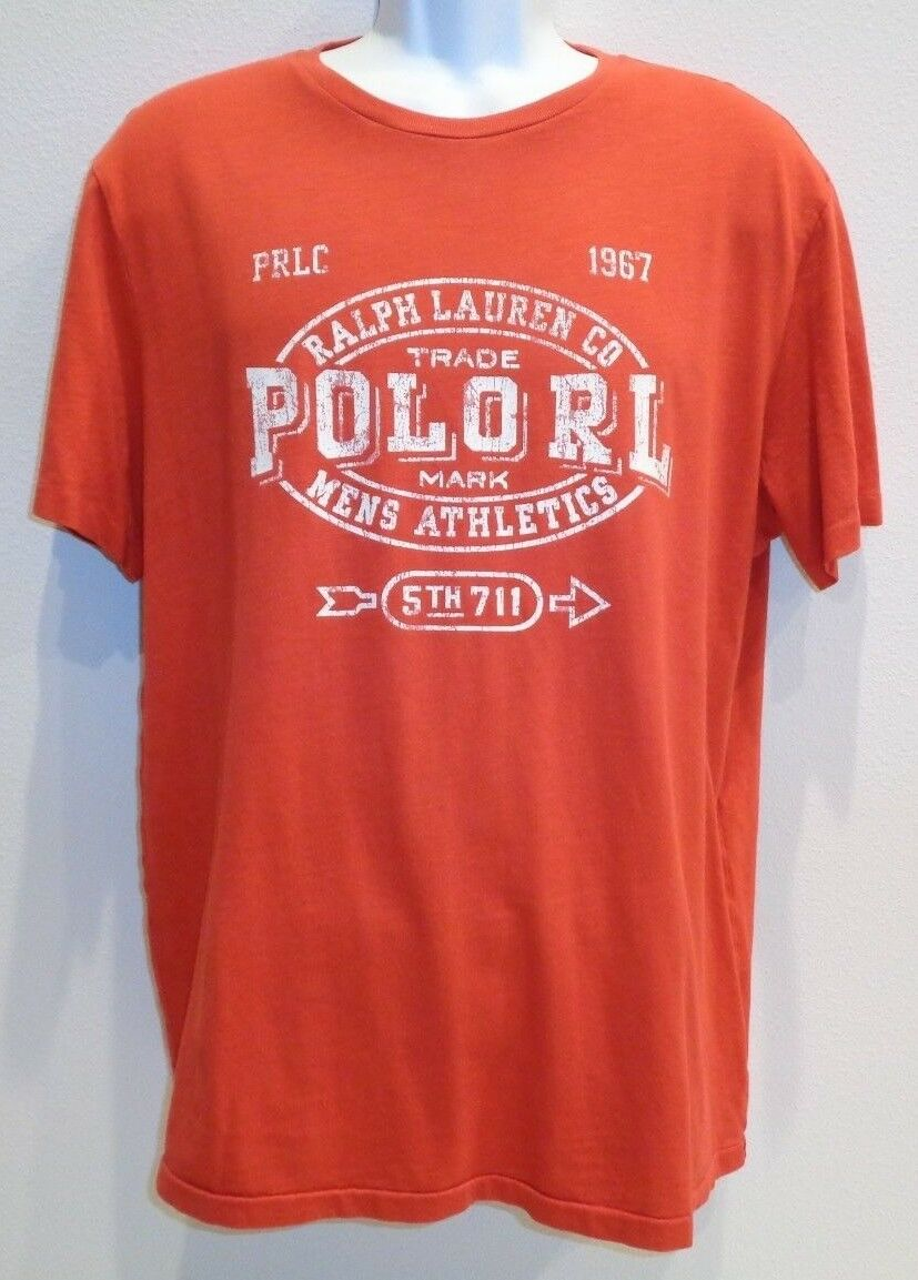 Mens Polo Ralph Lauren Custom Fit Short Sleeve Graphic Tee Shirt Red