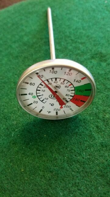 """7/"""" Stem Rattleware Easy Stem Milk Frothing Thermometer"""
