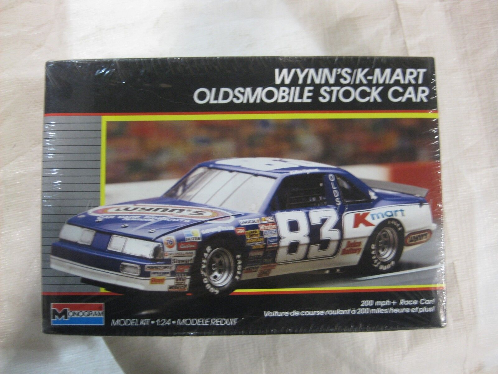 Raro Wynn's K-Mart Odlsmobile Nascar Kit de Modelismo Monogram 1988