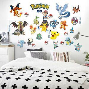 Pokemon-Wall-stickers-Vinyl-Home-Nursery-Decal-Bedroom-Art-Decor-kids-70x35x2