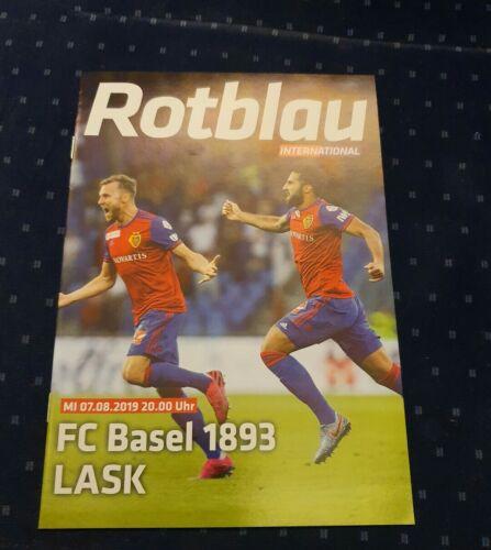 Programmheft FC Basel FCB Linzer ASK LASK UEFA Champions League 2019 programme