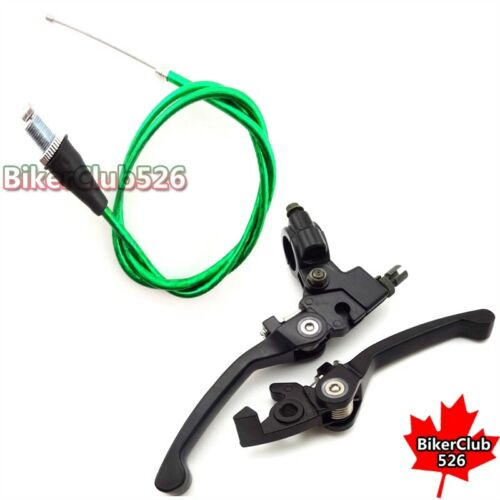Brake Clutch Lever Green Throttle Cable For Chinese 50cc 70cc 90cc Dirt Bike