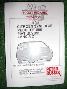 citroen synergie peugeot 806 fiat ulysse lancia z petrol workshop rh ebay co uk citroen synergie workshop manual free download Citroen ZX