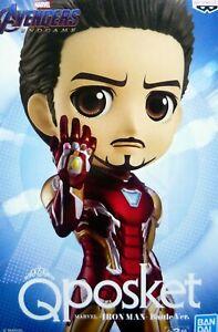 Q-posket-Marvel-Normal-Color-Iron-Man-Battle-ver-Qposket-100-Authentic