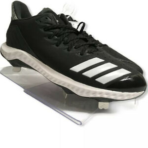 Adidas-Icon-Bounce-Low-Metal-Spikes-Baseball-Cleats-Black-White-Size-9-CG5241