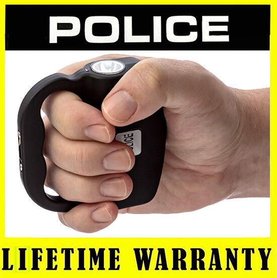 POLICE Stun Gun 519 Black Rechargeable With LED Flashlight + Taser Case