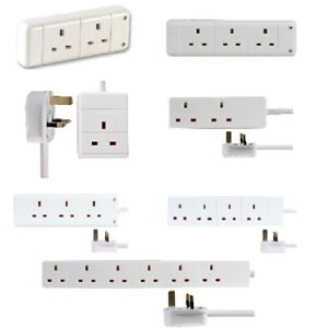 UK-Mains-Power-Extension-Lead-Cable-Electric-Plug-Socket-1-2-3-4-6-8-10-Gang-Way