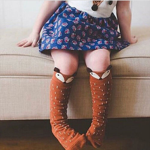 Toddlers Kids Girls Cotton Soft Knee High Socks 1-4Y NEW Hot Cute