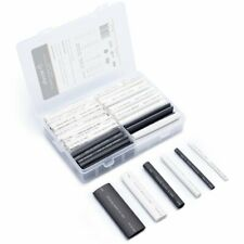 Wirefy 130 Pcs Black White Heat Shrink Tubing Kit 31 Dual Wall With Adhesive