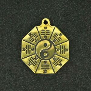 Chinese-Brass-Small-Bell-Pendant-Eight-Diagrams-Carving-Statue-Lucky-Pocket-Gift