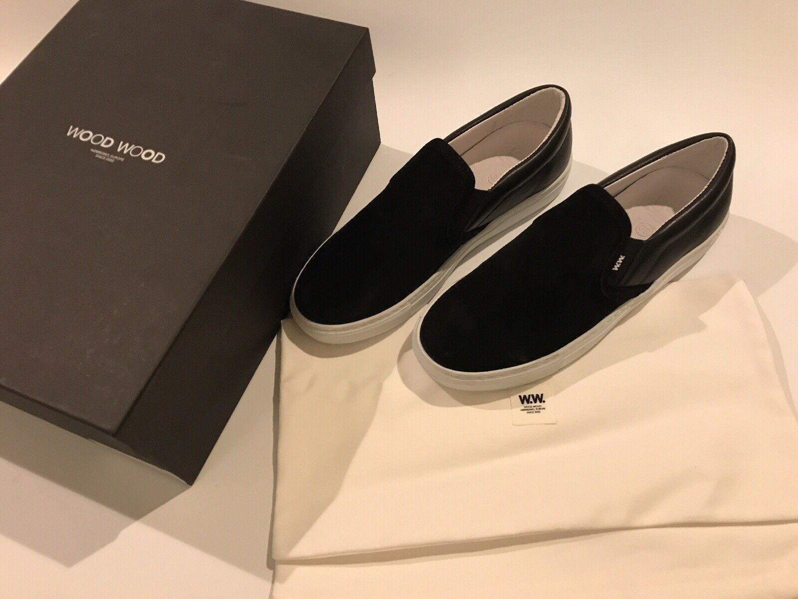 stanno facendo attività di sconto WOOD LEGNO NERO Quinn Mocassini UK UK UK Taglia 7 ORIGINALI CON BORSA NUOVO E Inscatolato Unisex  negozio di moda in vendita