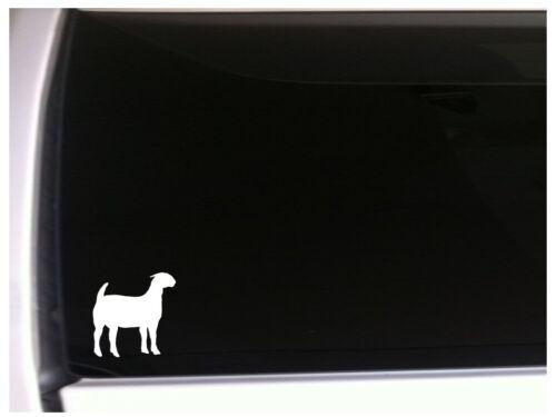 "Boer Silhouette Car Decal Vinyl Sticker 5.5/"" *M73 Farm Farming Goat Sheep Ram"