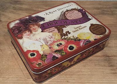 Vintage Retro Metal Storage Tins Heart Cat Bird Butterfly Tin Pill Trinket Roses