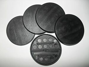 40mm-base-x5-Round-Miniature-base-Warhammer-40k-type