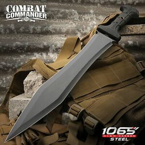 Full-Tang Gladiator Sword Gladius Machete w/Sheath 1065 High Carbon Steel