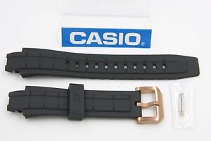 2e16bc29beef CASIO Edifice EFX-500P EFX-700P Original Black Watch Band W Pins EFX ...