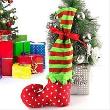 Santa Claus Elf Shoe Boot Suspenders Candy Gift Bag Christmas Stocking Socks Hot