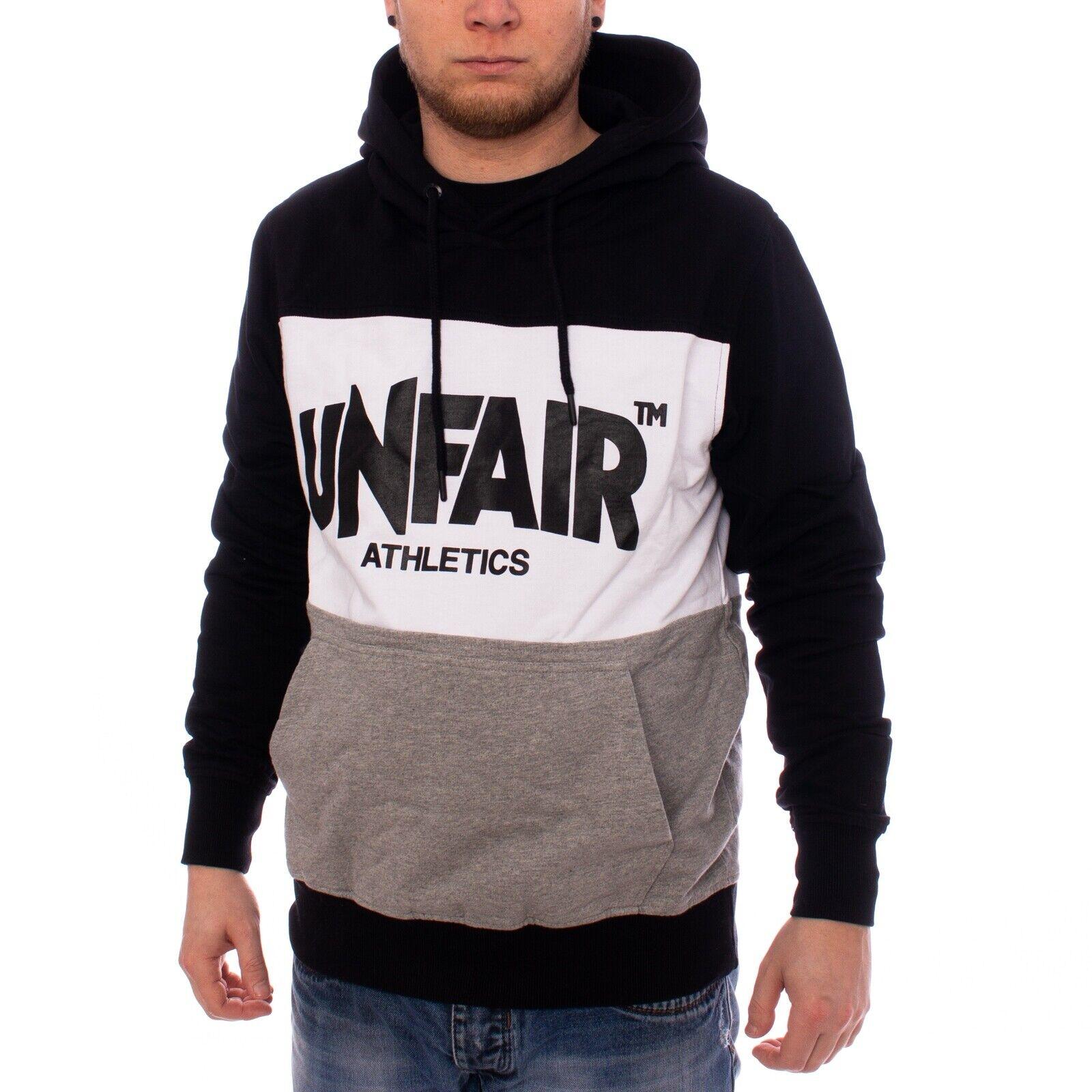 Unfair Classic Label Hoodie Herren Sweater schwarz 35258