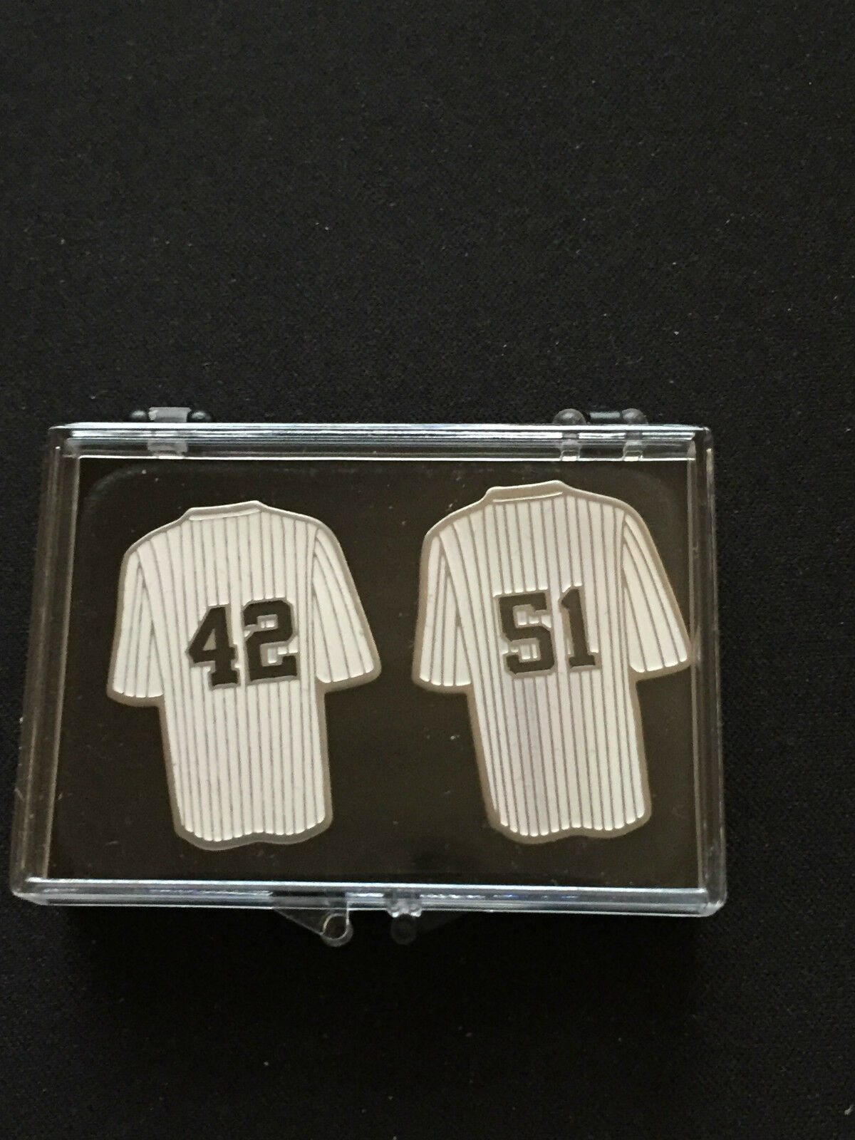 New York Yankees Revers Pins-Mariano & Bernie-Bronx Bomber Bomber Bomber Set-Gift Box 65115f