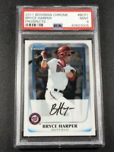 BRYCE HARPER 2011 BOWMAN CHROME #BCP1 PROSPECTS ROOKIE RC MINT PSA 9