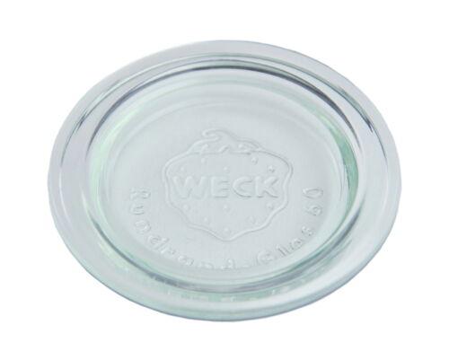 24 Weck Glasdeckel 60mm Deckel Ersatzdeckel Glas Rundrandglas RR60 transparent