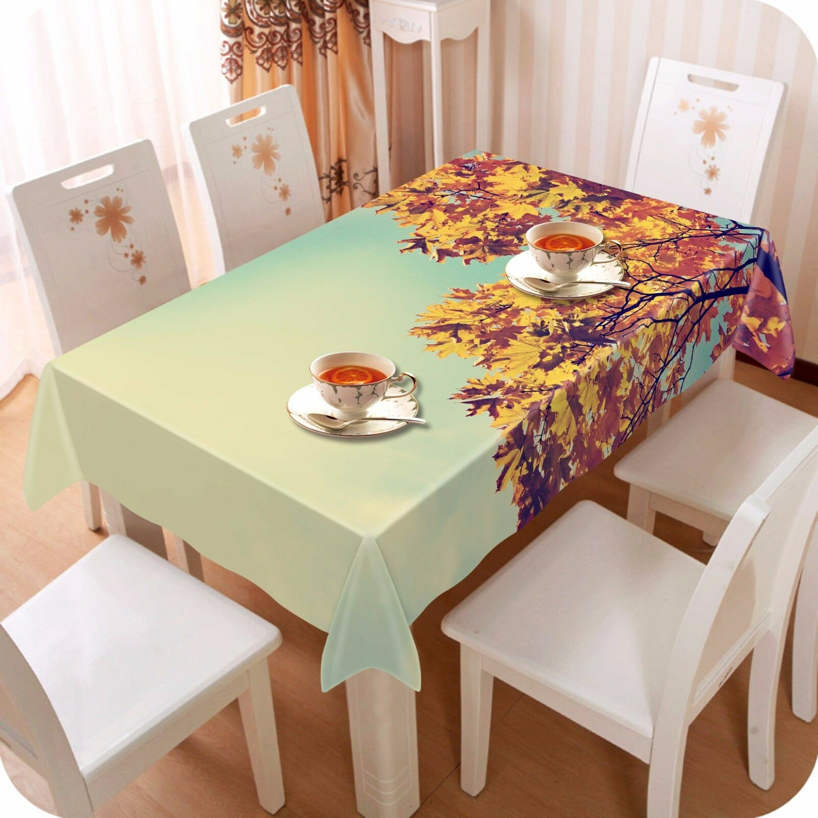 3D Indus Leaves 1 Tablecloth Table Cover Cloth Birthday Party Event AJ WALLPAPER