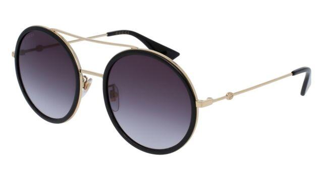 532126c9b03 Authentic Gucci Sunglasses GG0061S-001 56mm Gold-Black   Grey Gradient Lens