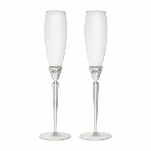 Monique Lhuillier  by Waterford Modern Love Champagne Flute NIB Set of 2