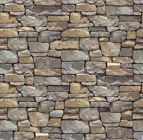 "5 wall stone SHEETS EMBOSSED 21CMX29 EACH 8 14"" x 11 38 O Scale CODEX3!"