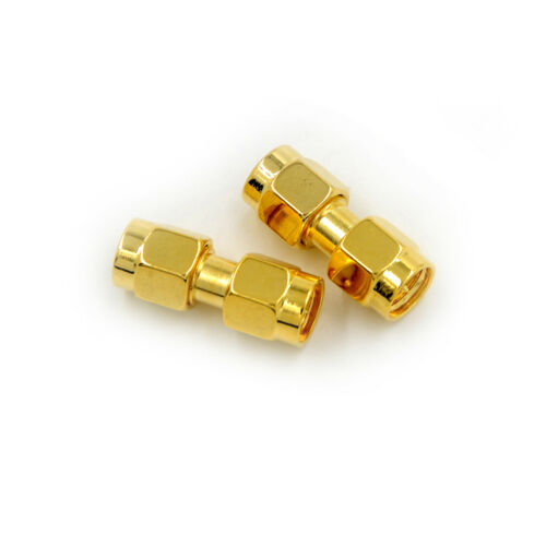 2Pcs SMA Male to SMA Male Plug in series RF Coaxial Adapter Connector FO