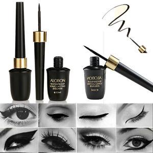 HOT-Nero-Impermeabile-Eyeliner-liquido-occhi-matita-penna-trucco-bellezza-Cosmetici-Set