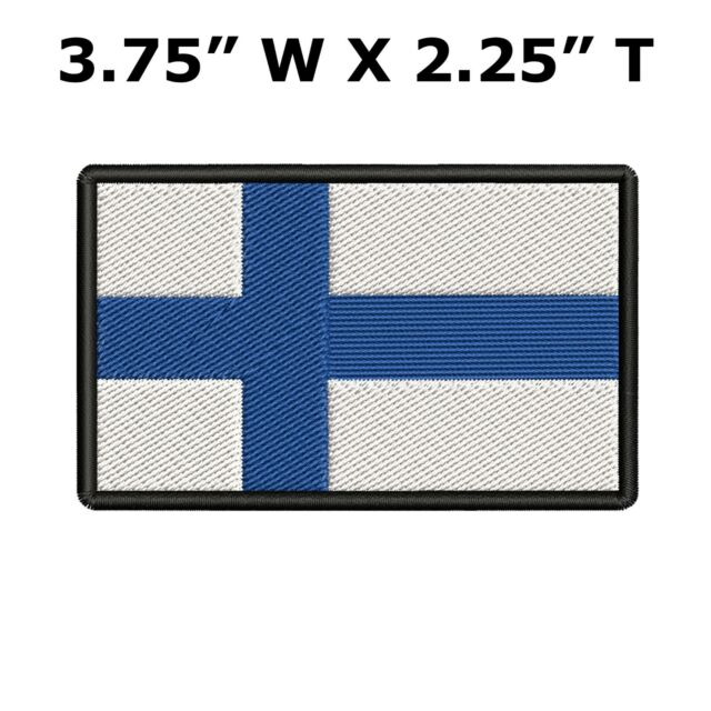 """Sweden Flag Embroidered Patches 3.5/""""x2.25/"""""""
