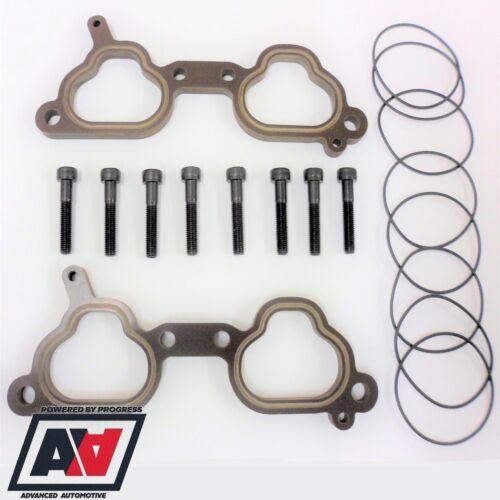 Thermal Inlet Manifold 10mm Spacers /& Bolts For Subaru Impreza EJ20 V5 V6 ADV