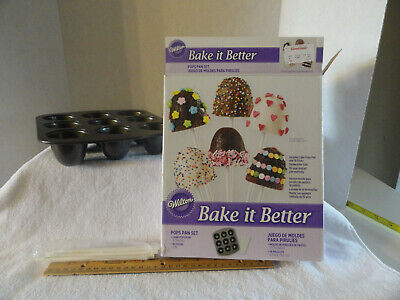 Wilton Bake It Better Cake Pops Pan Set Ebay