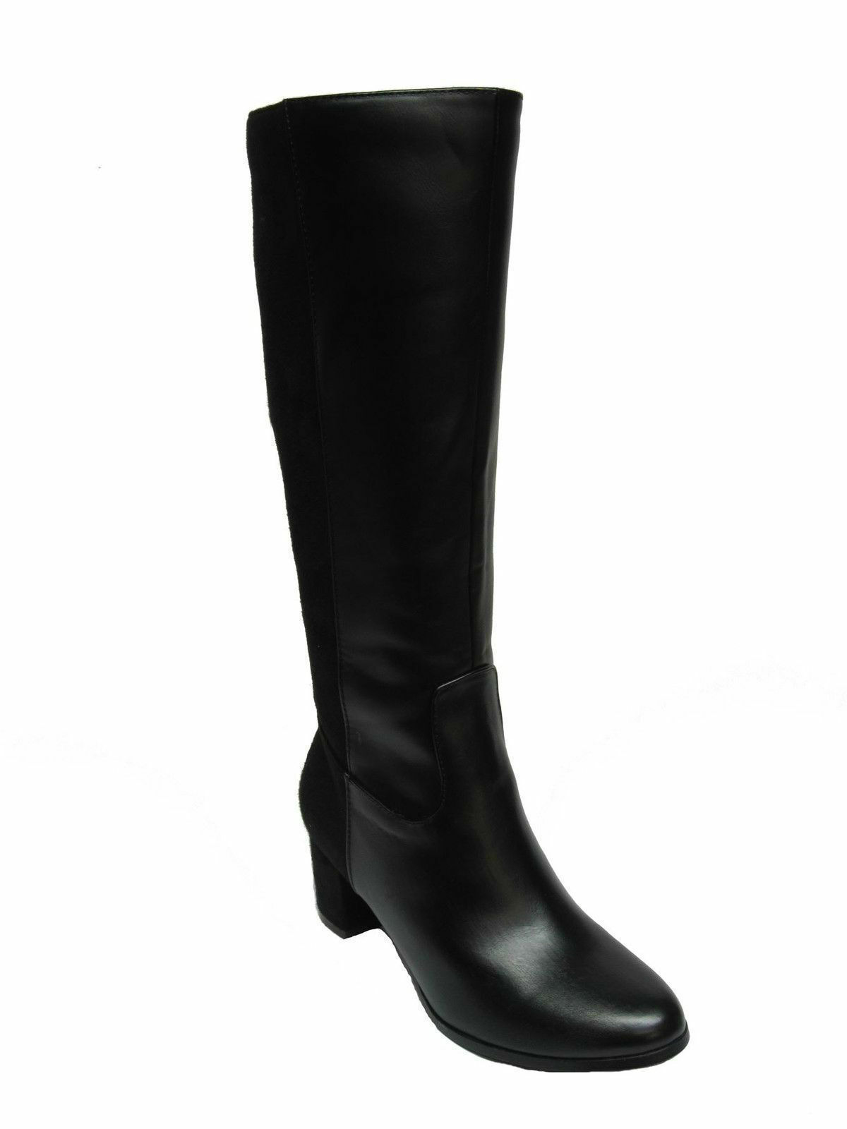 SPOT ON LADIES F50366 ZIP UP SMART FORMAL BOOTS HEELED LONG KNEE LENGTH BOOTS FORMAL 3f7cfa