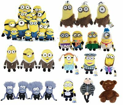 Despicable Me Choose Your Minion Plush Or Bag Clip Maid Dad Movie Soft Toy