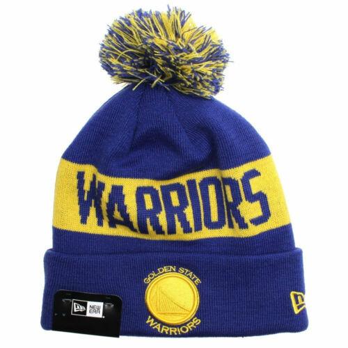NEW ERA golden state warriors NBA basketball cuffed knit hat royal//gold