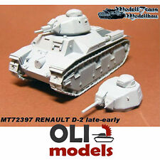1/72 French Renault D-2 Tank Late/Early versions RESIN Kit - Modell Trans 72397
